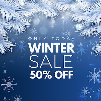 Realistic winter sale offer