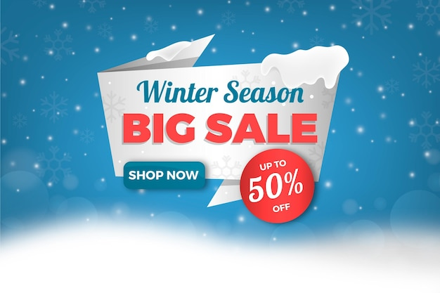 Realistic winter sale