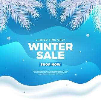 Realistic winter sale