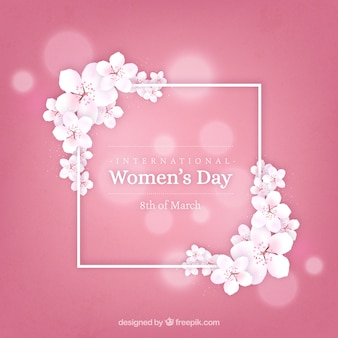 Realistic women's day background