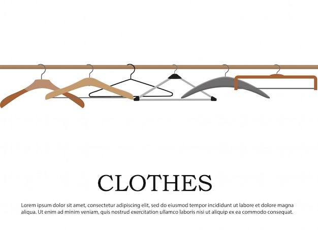 Realistic wooden hangers.