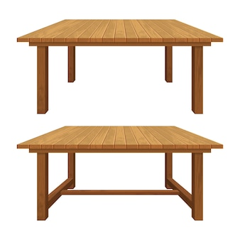 Realistic wooden textured table