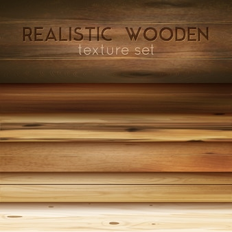 Realistic wooden textures