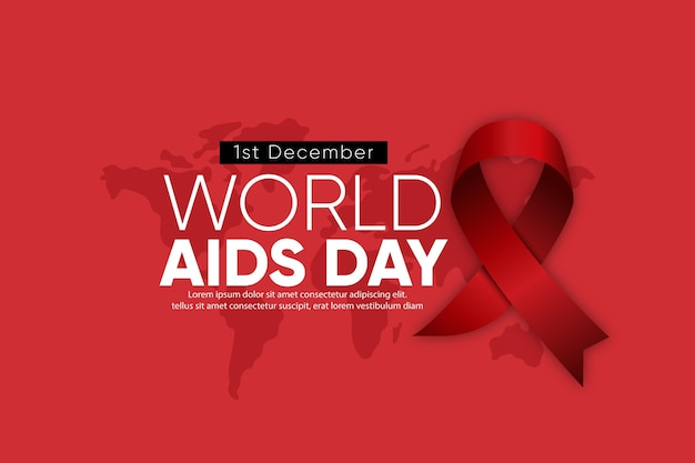 Realistic world aids day symbol background