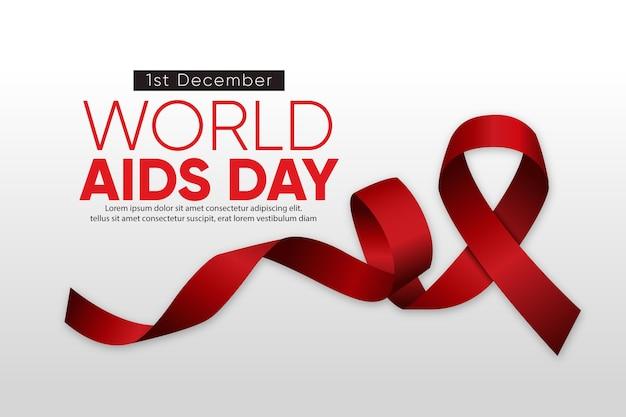 現実的な世界エイズデーのシンボル
