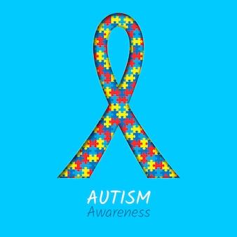 Реалистичная иллюстрация дня осведомленности об аутизме