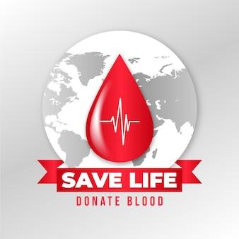 현실적인 세계 헌혈자의 날 그림