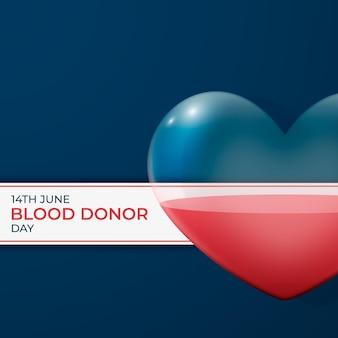 Illustrazione realistica della giornata mondiale del donatore di sangue