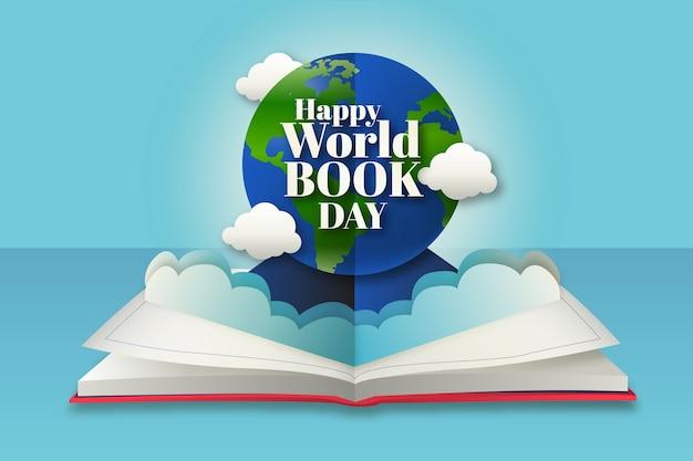 現実的な世界の本の日の概念