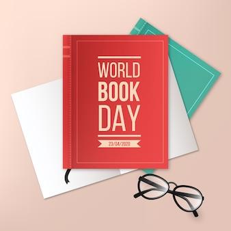 現実的な世界の本の日のコンセプト