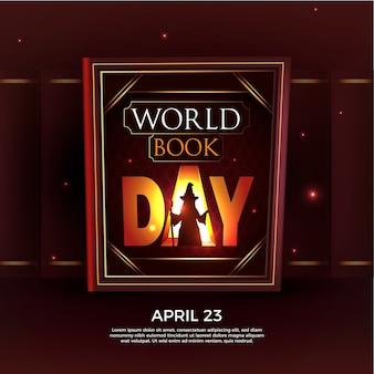 Realistic world book day concept