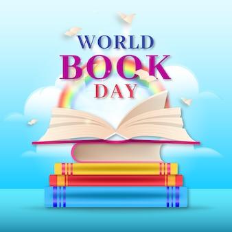 現実的な世界の本の日
