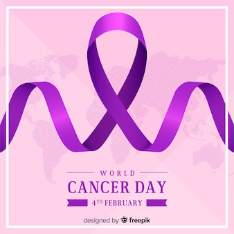 Realistic world cancer day background