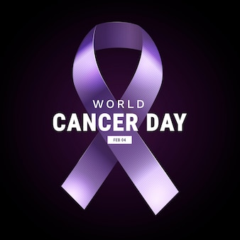 Nastro realistico della giornata mondiale del cancro