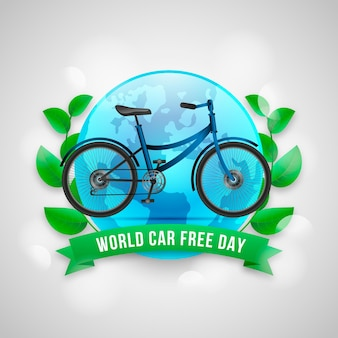 Realistic world car free day background