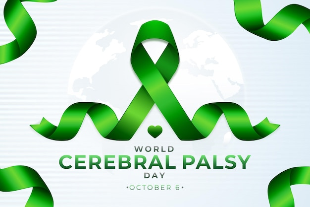 Fondo realistico della giornata mondiale della paralisi cerebrale infantile