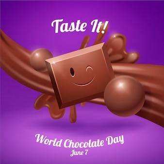 リアルな世界のチョコレートの日のイラスト