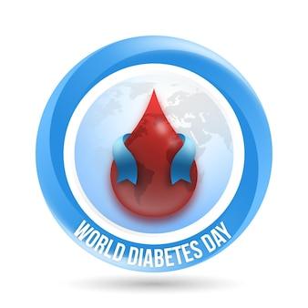 現実的な世界の糖尿病デーの血とリボン