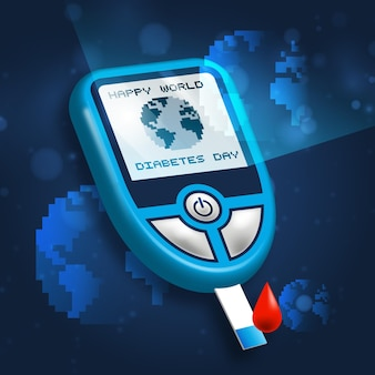 現実的な世界糖尿病デーのコンセプト