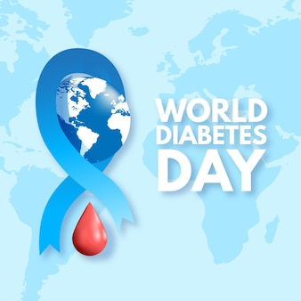 Realistic world diabetes day concept