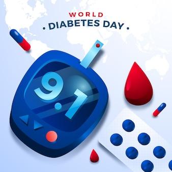 現実的な世界の糖尿病デーのコンセプト