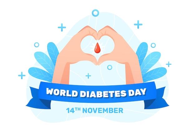 現実的な世界の糖尿病デーのイラスト