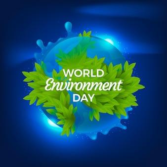 現実的な世界環境デーのコンセプト