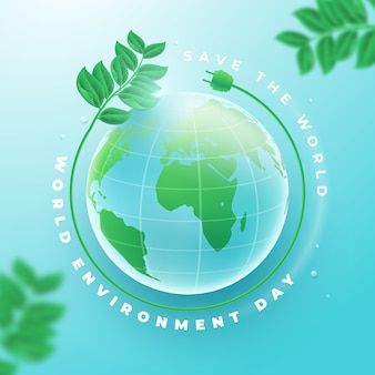 Realistic world environment day concept