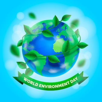 Realistic world environment day