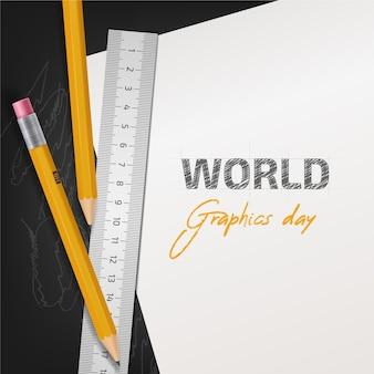 Realistic world graphics day illustration