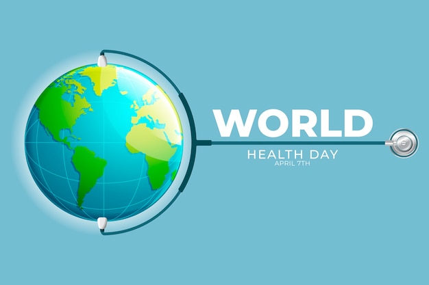 Realistic world health day banner