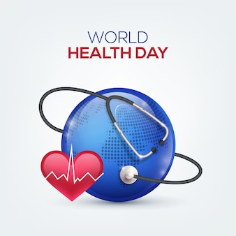 Realistic world health day illustration