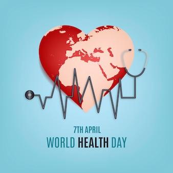 現実的な世界保健デーのイラスト