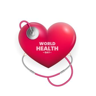 Реалистичная иллюстрация всемирного дня здоровья