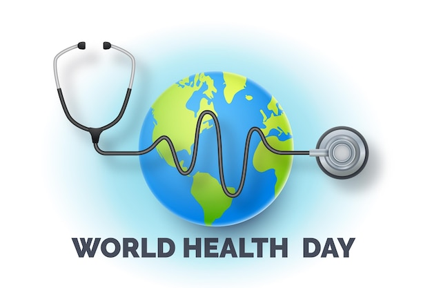 Illustrazione realistica della giornata mondiale della salute