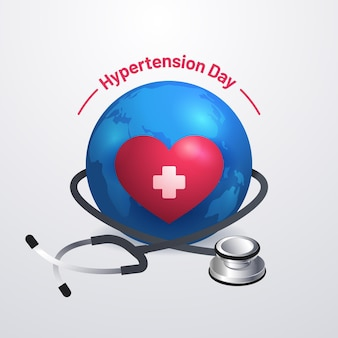 Realistic world hypertension day illustration