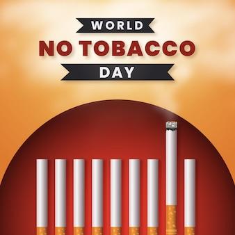 Реалистичная иллюстрация дня без табака