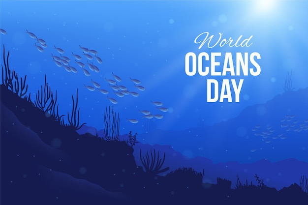Реалистичная иллюстрация всемирного дня океанов