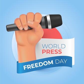 Реалистичная иллюстрация дня свободы прессы