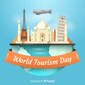Realistic world tourism day