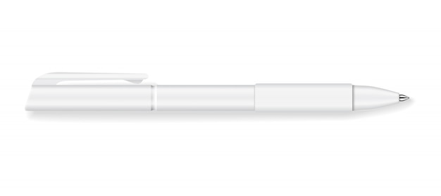 Realistic writing pen isolated