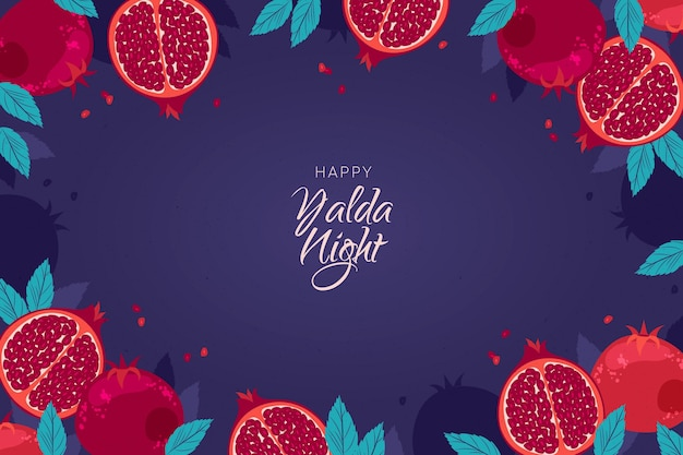 Realistic yalda night background