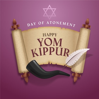 Realistic yom kippur with horn