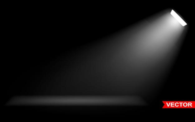 白いスポットライトで現実的な大きな光の効果