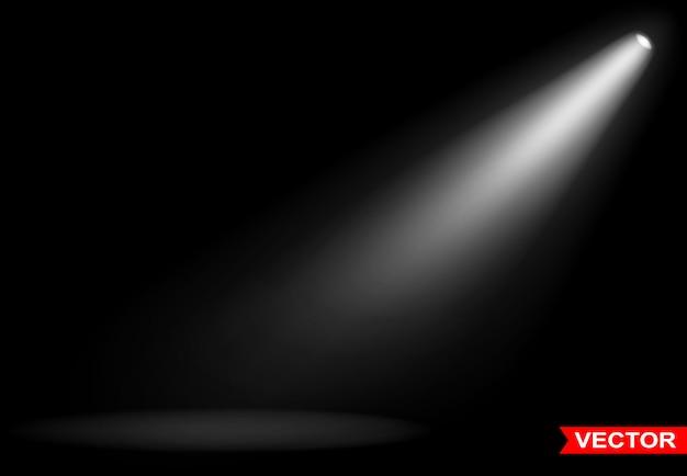 Realistics small light effect with white spotlight