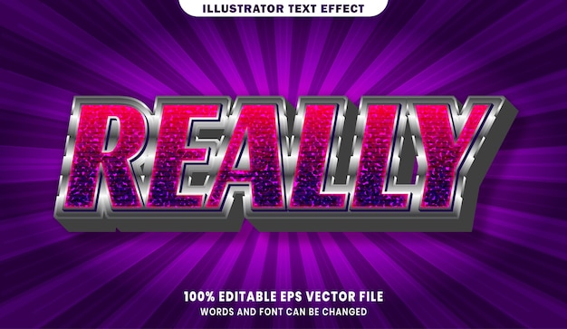 Действительно редактируемый эффект стиля текста 3d