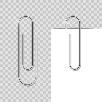 Realostic paper clip metal school clip with shadow office binder fix paper