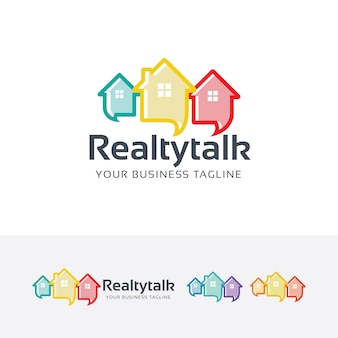 Realty talk vector logo template