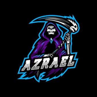 Reaper azraelのマスコットロゴeスポーツゲーム。