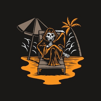 Reaper chill in the summer